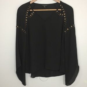 Women's Rock and Republic Sheer studded top